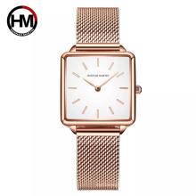 Hannah Martin 108 Genuine Leather Strap Japan Quartz Movement Women Minimalist Watch Brand Wristwatch Ladies Square Dial Watches