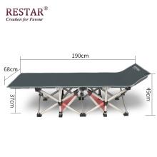 Venda quente de Metal Cama Dobrável Ao Ar Livre Camping Ajustável Cama Fabricação