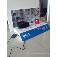 Durable Table Top Acryl Material Free Design Wireless Bluetooth Mini Steroeo Lautsprecher Display Stand