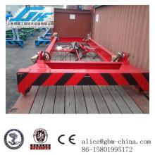40feet Bajo nivel semiautomático de la viga de elevación del contenedor, esparcidor mecánico de material a granel