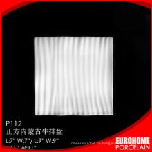schönes Design Eurohome Porzellan italienische weiße Platten