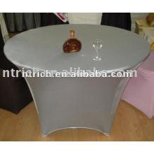 Новый стиль Серебряный спандекс/лайкра ткань/крышка стола