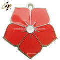 Wholesale cheap custom flower eternal wedding souvenir metal charm
