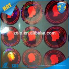 Hecho en la máquina de impresión de encargo de la etiqueta engomada del holograma de China para hacer la etiqueta engomada redonda del holograma