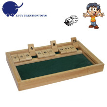 Traditional Retro Classic Board Game 12 Numbers Shut the Box Game with Dice