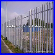 1.2m round / notched /w galvanized palisade fence