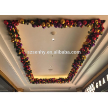 Indoor Decoration Plastic Led Bauble Garland