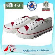 Китай OEM вулканизированной обуви фабрика, белые женщины холст обувь, мужчины холст вулканизированной обуви