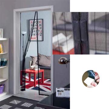 Porte moustiquaire magnétique avec maille durable