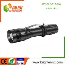 Fabrik heißer Verkauf 1 * 18650 Lithium-batteriebetriebener Zoom-Fokus Multifunktionale Aluminium 3w Energie nachladbare geführte Fackel-Licht