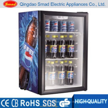 98L oem commercial glass door small mini fridge