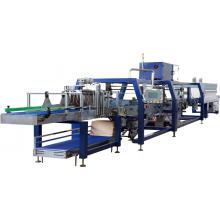 Machines automatiques d'emballage de film rétractable pour plateaux de bouteilles