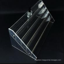 Custom Wholesale 5 Tier Display Stand Clear Acrylic Nail Polish Rack