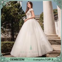 Einfache elegante Brautkleider wulst Prinzessin Ballkleid Brautkleider puffy Hochzeitskleid für Philippinen
