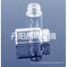 Screwed Clear Tubular Shaped Mini Glass Bottle