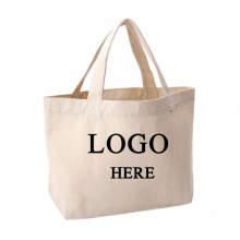 Biodegradable personalised colorful natural cotton canvas shopping bag for promotion