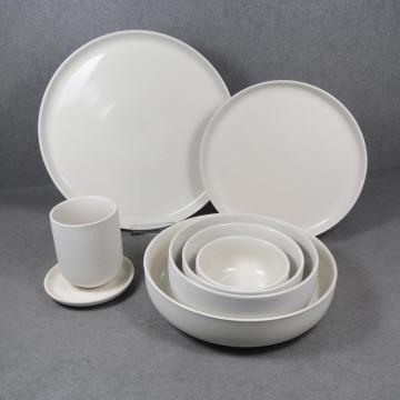 Vajilla Color Glaze Set Blanco