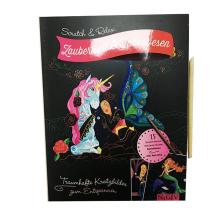 Tecido DIY art children painting scratch card set