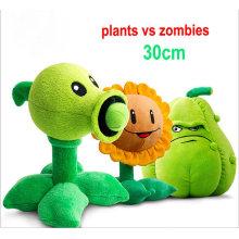 Máquina de grúa personalizada Plantas de juguete relleno Vs zombies juguete de peluche