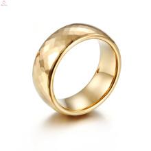 Bijoux de haute qualité d'anneau d'or de bande, anneaux polis à la mode de carbure de tungstène