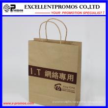 Logo Printed Natural Kraft Shopping Bag (EP-FP55515)