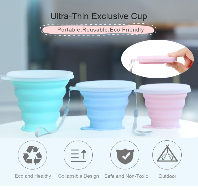 New Arrival Collapsible Silicone Coffee Mug