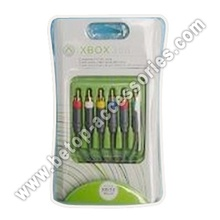 1,8 m XBOX360 componente AV Cable(Gold-Plating)
