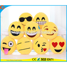 Hot Selling Novelty Design Decorate Emoji Pillow with Facial Expression