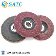 Disco de flap de corindo de diâmetro externo profissional 100 fabricado na China