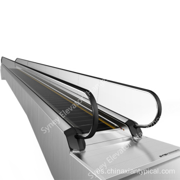 Horizontal en movimiento acera plana Travelator