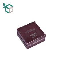 Роскошный Квадратный Темно-Красный Цвет Косметическая Бумажная Коробка С Flocking Поднос