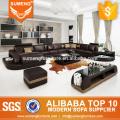 SUMENG 2015 Germany modern leather corner sofa set for living room