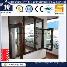 Good Quality Wooden Grain Aluminum Casement Window