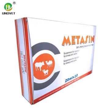 Injection de métamizole sodique à 30% pour vétérinaire