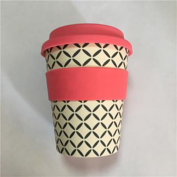 Umweltfreundliche Mitnehmerbambusfaser-Reise-Kaffeetassen