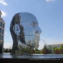 moderna decoração do jardim ao ar livre metalmorphosis moving water sculpture