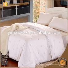White 60s Hotel Hoja de cama, Funda de edredón de hotel, Hotel Pillow Case