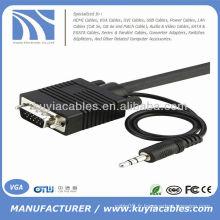 10 FT SVGA VGA Câble d'ordinateur portable à téléviseur avec audio 10FT