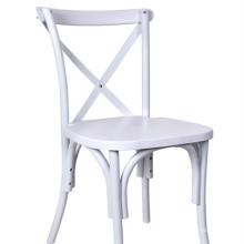 Weißer Querrückseiten-Stuhl für Restaurant-Speisen