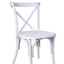 Cadeira de cruz branca para restaurante