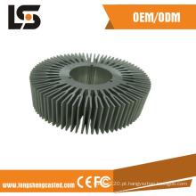 Dissipador de calor de alumínio ADC12 com anodização e usinagem de peças