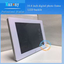 Armação de foto digital de 10.4 polegadas LED backlit