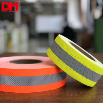Fluo Lime Glass-bead Reflective Vest Trim 5cm UL NFPA2112