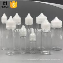 tipo especial tamaño diferente PET e botella líquida con tapa
