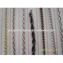 custom factory price thin metal chain for handbag