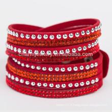 Bracelet à talon chaud Bracelet en cristal braisé Pendentifs en cuir pour pendentifs en cuir pour bijoux BCR030
