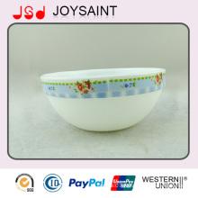 Bol décoratif de riz de verrerie d'Opale de conception de rosée pour la promotion