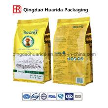 Bolsa de envasado para productos pesados sellada Quad