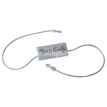 gepersonaliseerde Plastic Garment hang tag string seal