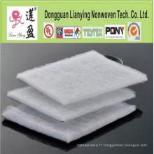 100% Polyester / ouate de coton pour fabriquer des revêtements de pâte